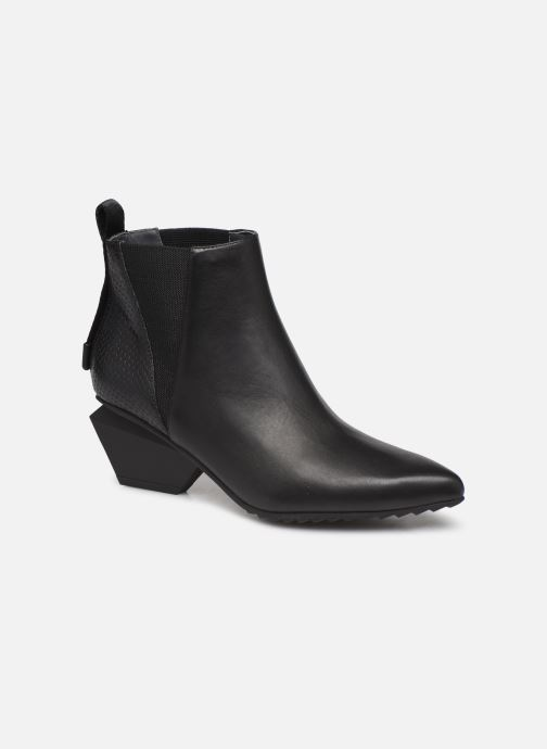 Bottines et boots United Nude Jacky Tek Bootie Mid Noir vue détail/paire