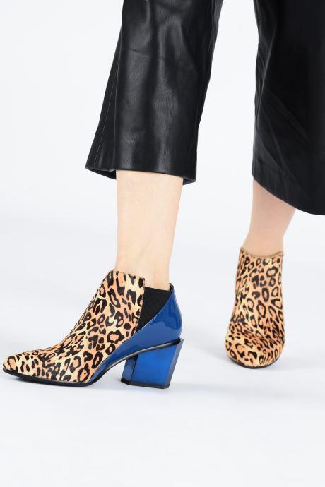 Bottines et boots United Nude Tetra Jackie Mid Multicolore vue bas / vue portée sac