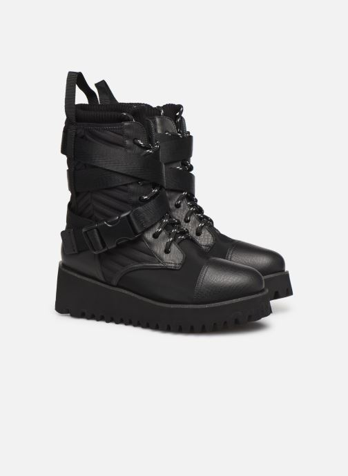 Bottines et boots United Nude Combat Tek Noir vue 3/4
