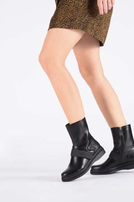 Bottines et boots United Nude Combat Tek Noir vue bas / vue portée sac