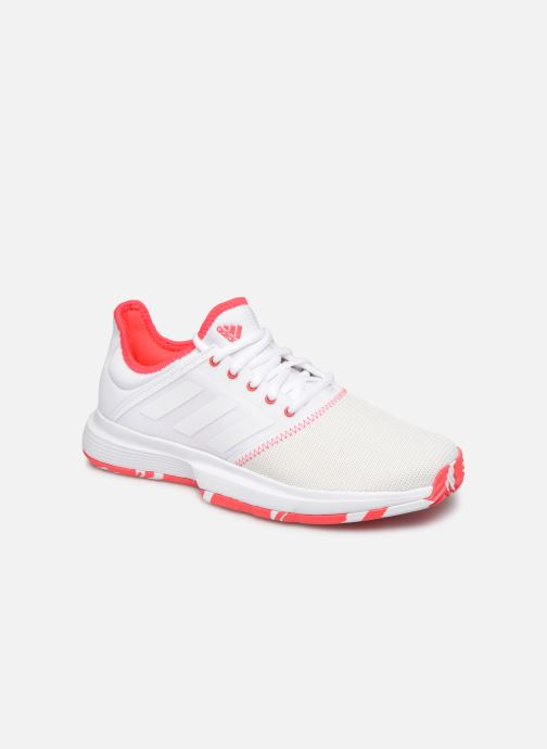 Sport shoes adidas performance Gamecourt W multico White detailed view/ Pair view