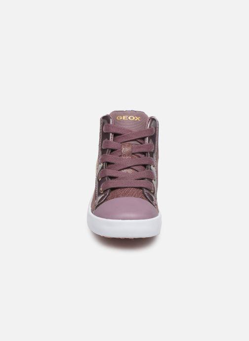 Baskets Geox B Kilwi Girl B94D5C Rose vue portées chaussures