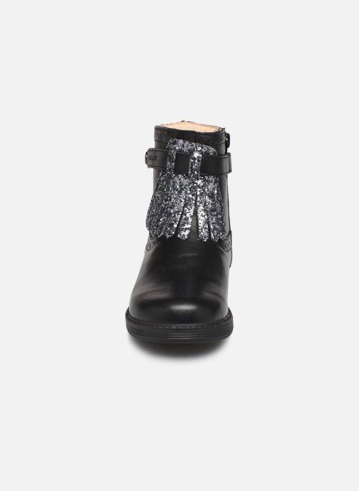 Bottes Geox B Hynde Girl B942FC Noir vue portées chaussures
