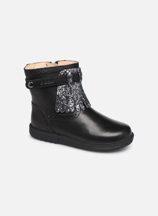 Støvler & gummistøvler Geox B Hynde Girl B942FC Sort detaljeret billede af skoene