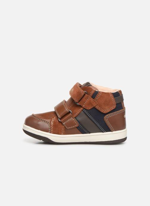 Sneakers Geox B New Flick Boy B941LC Bruin voorkant