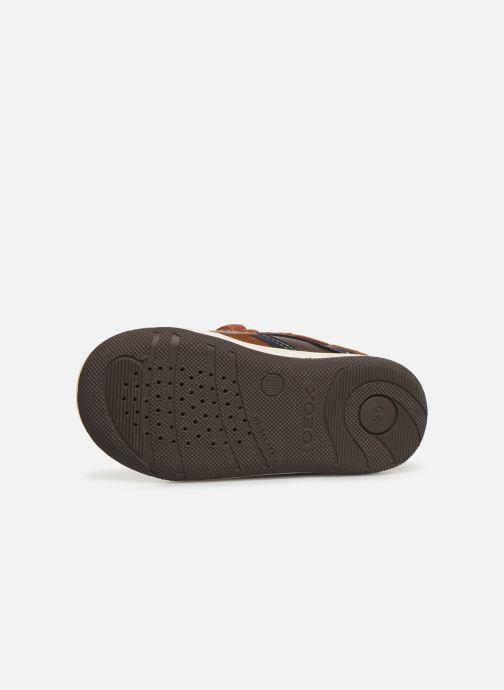 Sneakers Geox B New Flick Boy B941LC Bruin boven