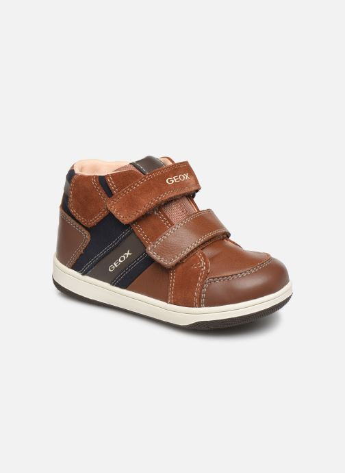 Trainers Geox B New Flick Boy B941LC Brown detailed view/ Pair view