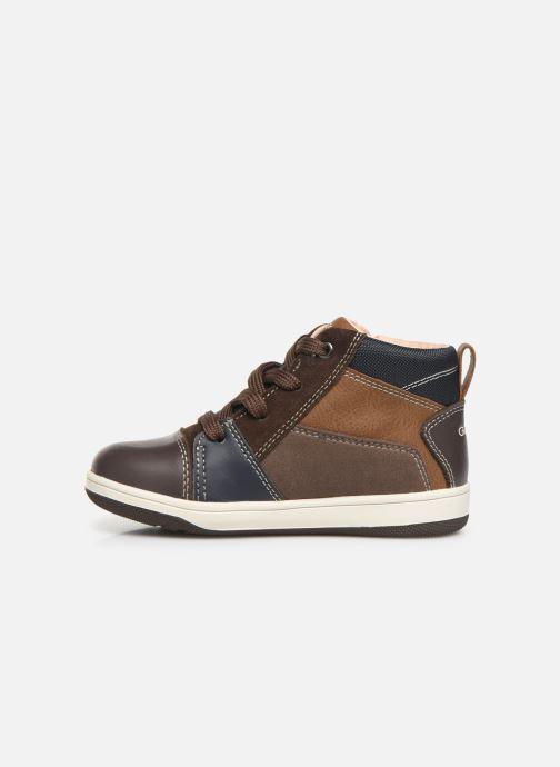 Sneaker Geox B New Flick Boy B941LA braun ansicht von vorne
