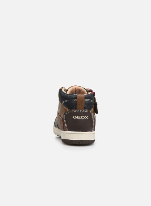 Sneaker Geox B New Flick Boy B941LA braun ansicht von rechts
