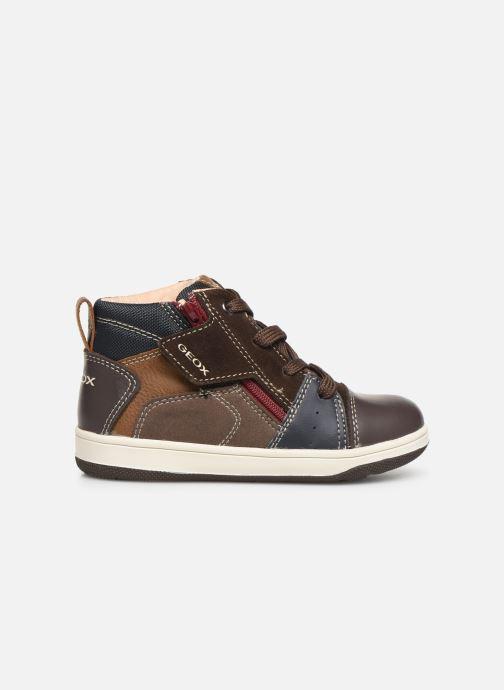 Sneakers Geox B New Flick Boy B941LA Bruin achterkant