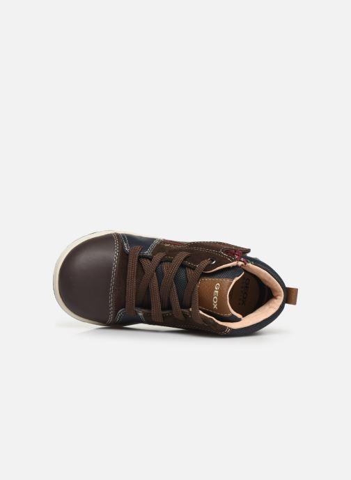Sneaker Geox B New Flick Boy B941LA braun ansicht von links