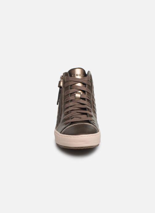Baskets Geox J Kalispera Girl J944GD Or et bronze vue portées chaussures