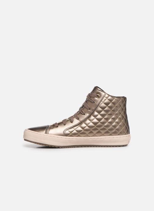 Sneakers Geox J Kalispera Girl J944GD Goud en brons voorkant