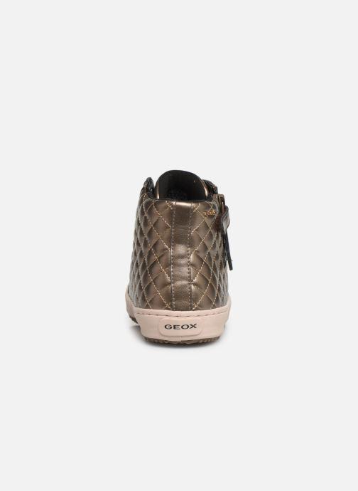 Sneakers Geox J Kalispera Girl J944GD Goud en brons rechts