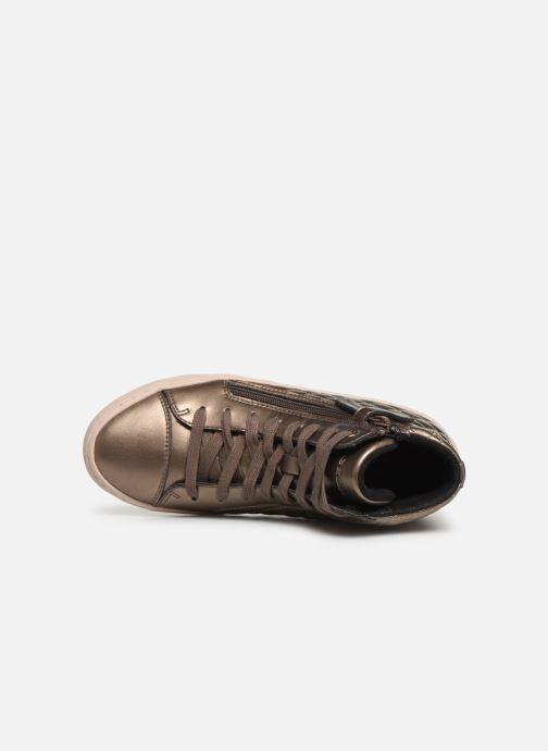 Sneakers Geox J Kalispera Girl J944GD Goud en brons links