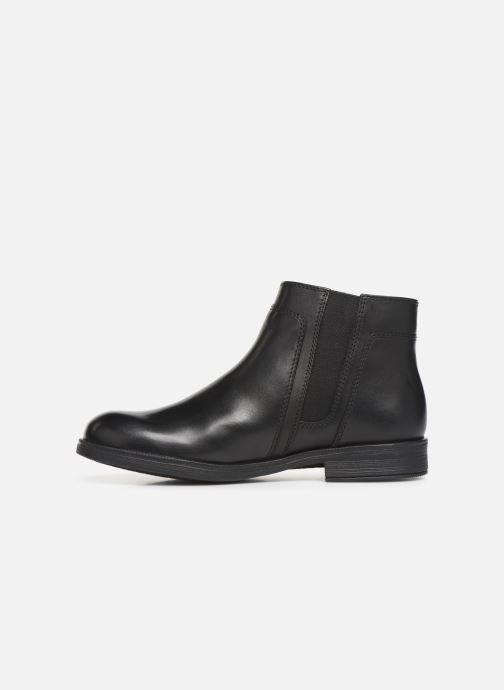 Boots en enkellaarsjes Geox JR Agata J9449C Zwart voorkant