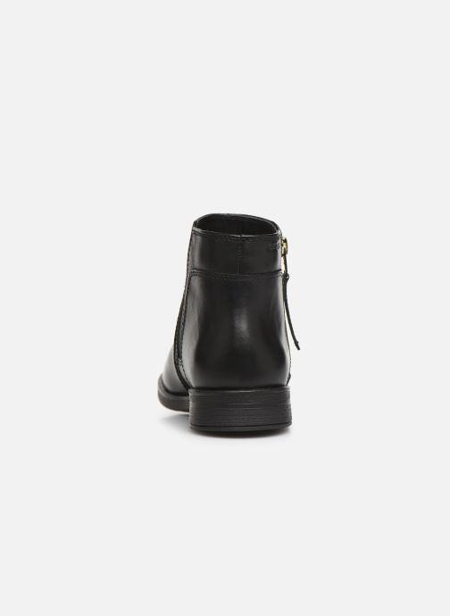 Boots en enkellaarsjes Geox JR Agata J9449C Zwart rechts