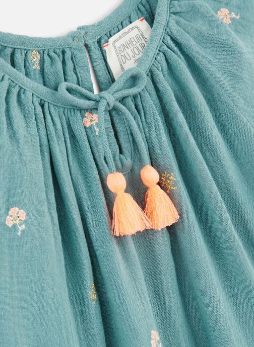 Vêtements Bonheur du Jour Pompon Blouse Bleu vue portées chaussures