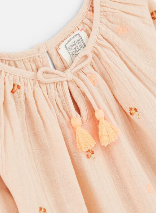 Vêtements Bonheur du Jour Pompon Blouse Rose vue portées chaussures