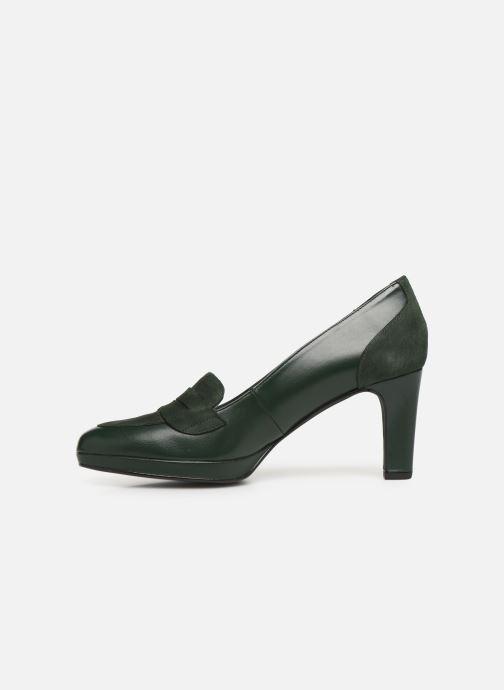 Zapatos de tacón Georgia Rose Eufia Verde vista de frente