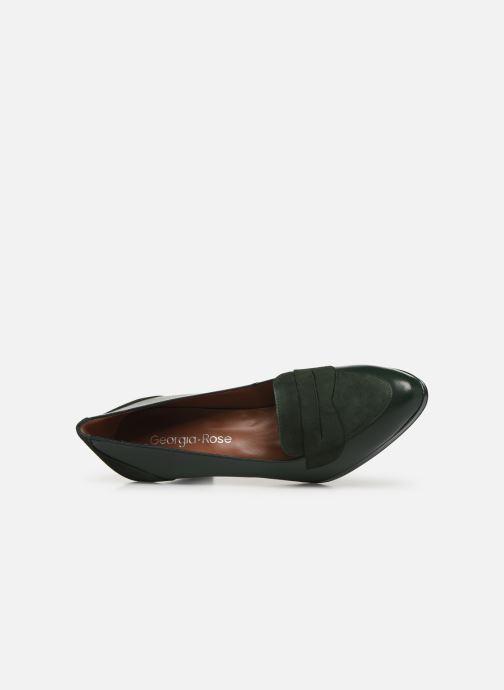 Zapatos de tacón Georgia Rose Eufia Verde vista lateral izquierda