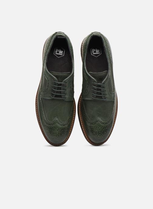 Zapatos con cordones Mr SARENZA Nolis Verde vista del modelo