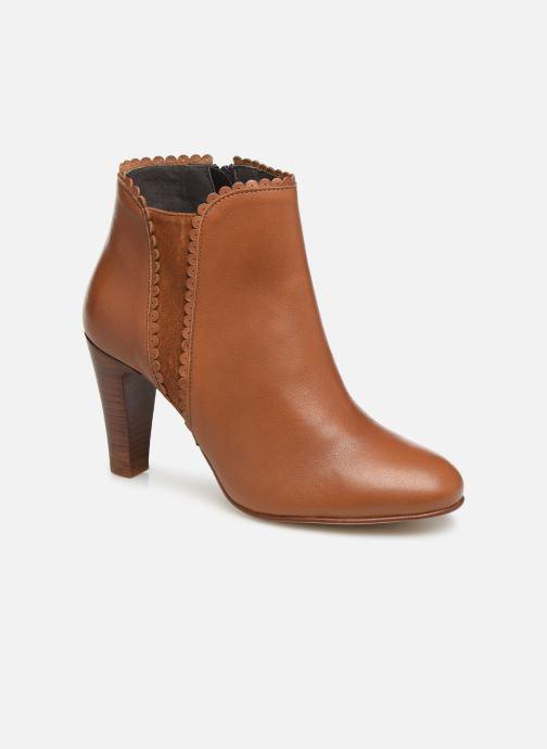 Ankelstøvler Georgia Rose Lupa Brun detaljeret billede af skoene