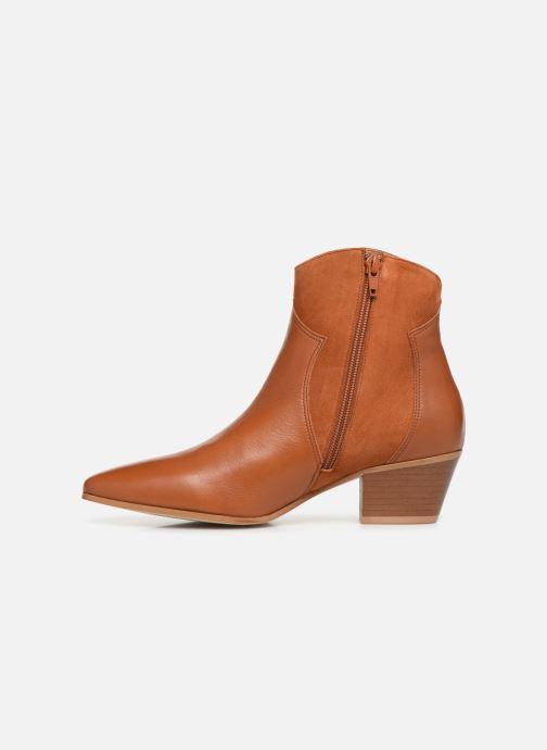 Bottines et boots Georgia Rose Lalo Marron vue face