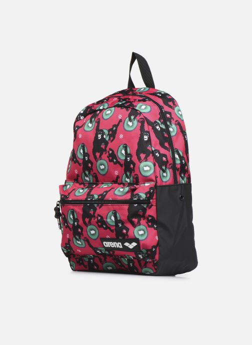Mochilas Arena TEAM BACKPACK 30 ALLOVER Rosa vista del modelo