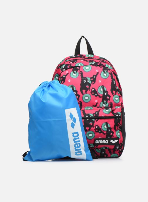 Mochilas Arena TEAM BACKPACK 30 ALLOVER Rosa vista lateral izquierda