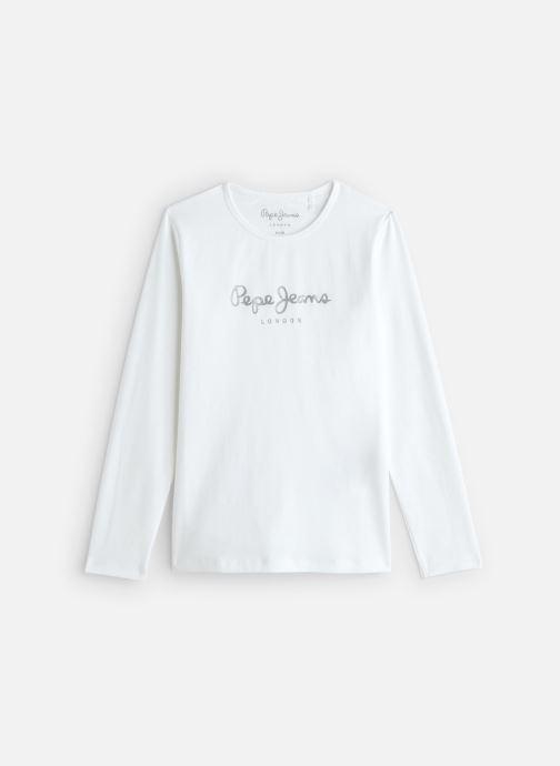 Vêtements Pepe jeans Hana Glitter Blanc vue détail/paire
