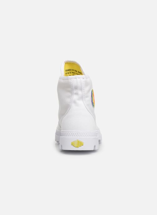 Trainers Palladium Pampa Pride   U White view from the right
