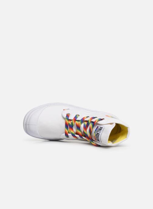 Trainers Palladium Pampa Pride   U White view from the left