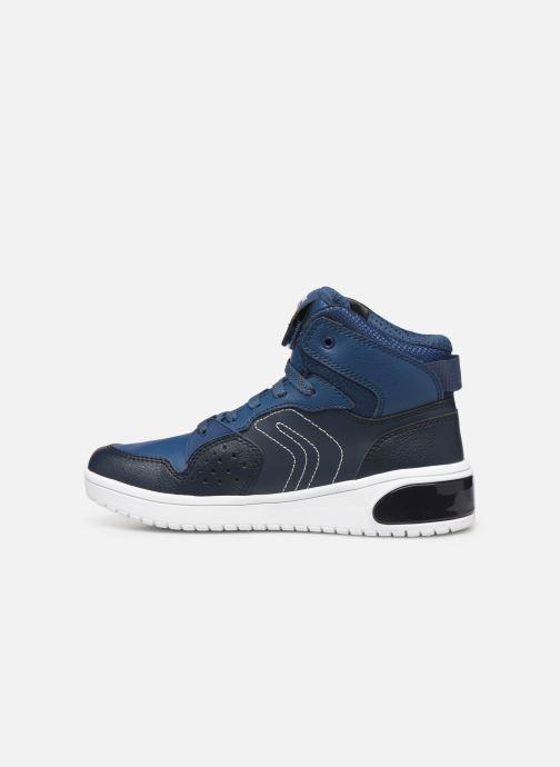 Sneakers Geox J Xled Boy J947QA Blauw voorkant