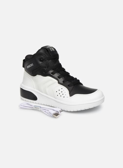 Sneakers Geox J Xled Boy J947QA Wit 3/4'