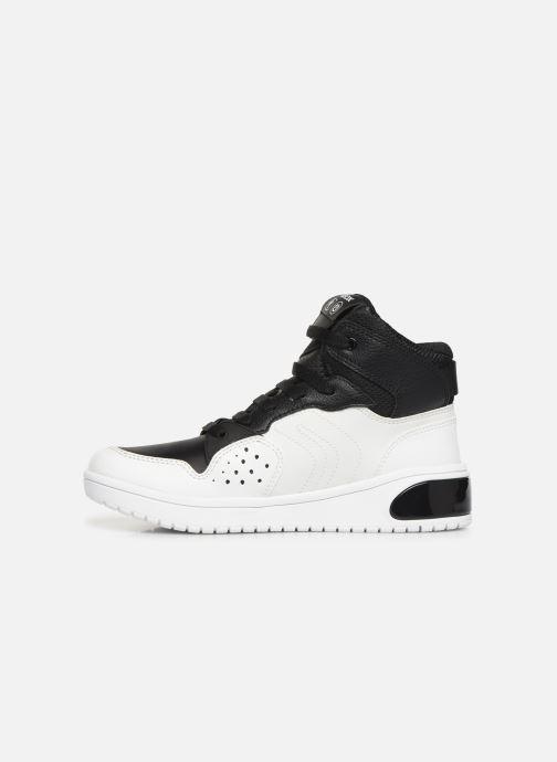 Sneakers Geox J Xled Boy J947QA Wit voorkant