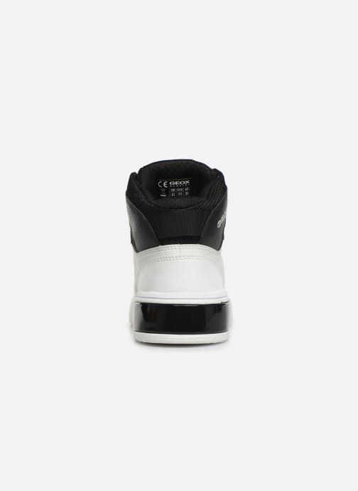 Sneakers Geox J Xled Boy J947QA Wit rechts