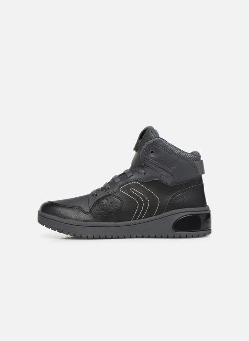 Sneakers Geox J Xled Boy J947QA Zwart voorkant