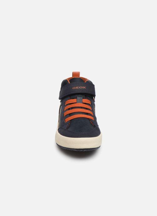 Sneaker Geox J Alonisso Boy J942CN blau schuhe getragen