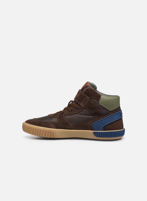 Sneaker Geox J Alonisso Boy J942CH braun ansicht von vorne