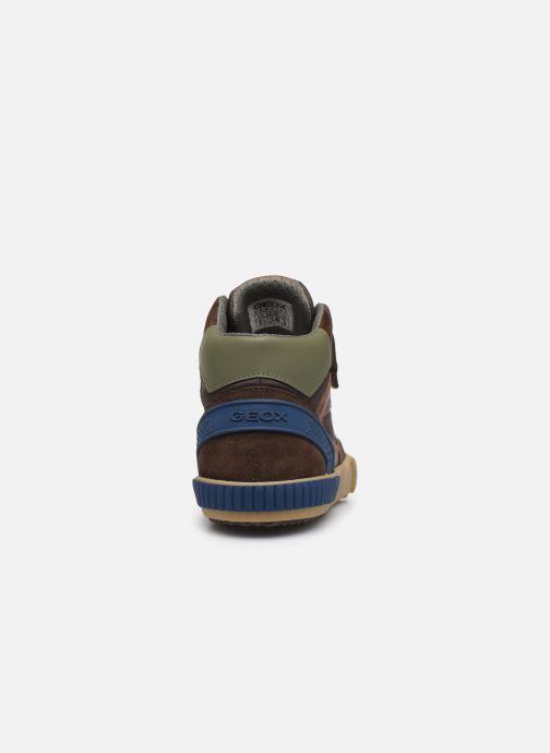 Sneaker Geox J Alonisso Boy J942CH braun ansicht von rechts