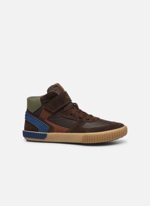 Sneaker Geox J Alonisso Boy J942CH braun ansicht von hinten