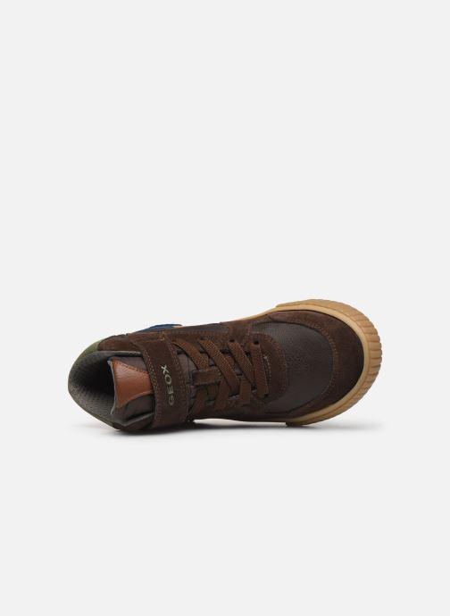 Sneaker Geox J Alonisso Boy J942CH braun ansicht von links