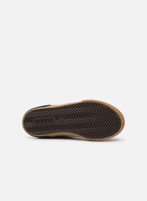 Sneaker Geox J Alonisso Boy J942CH braun ansicht von oben