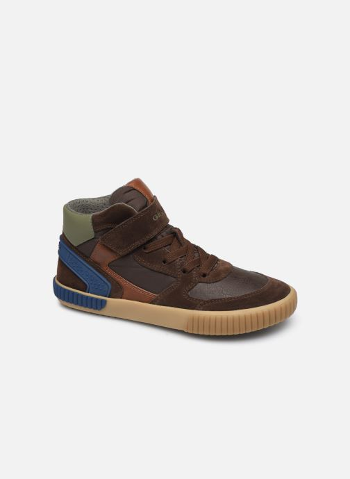 Sneaker Geox J Alonisso Boy J942CH braun detaillierte ansicht/modell