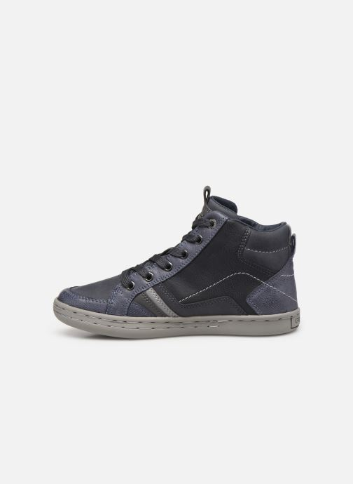 Baskets Geox JR Garcia Boy J94B6A Bleu vue face