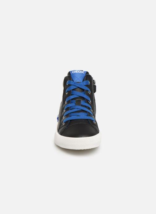 Baskets Geox J Alonisso Boy J942CA Noir vue portées chaussures