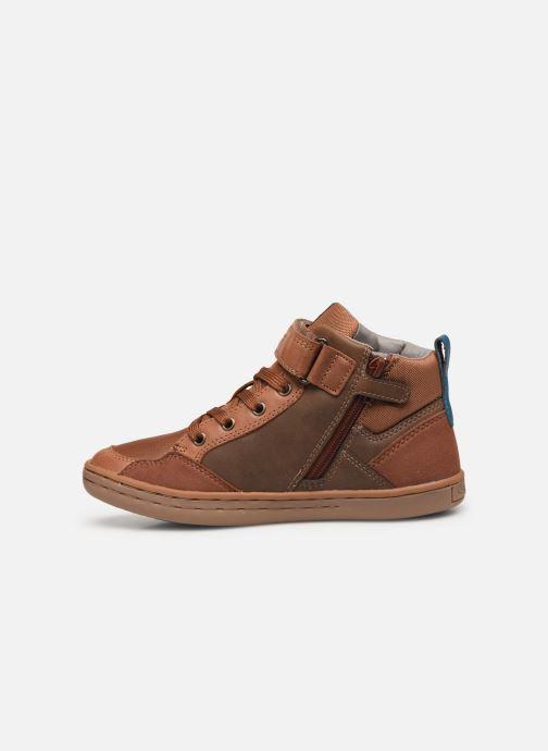 Sneakers Geox Jr Garcia Boy J94B6B Bruin voorkant