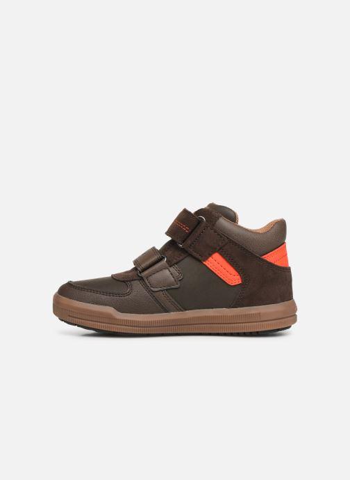 Sneaker Geox J Arzach Boy J944AB braun ansicht von vorne