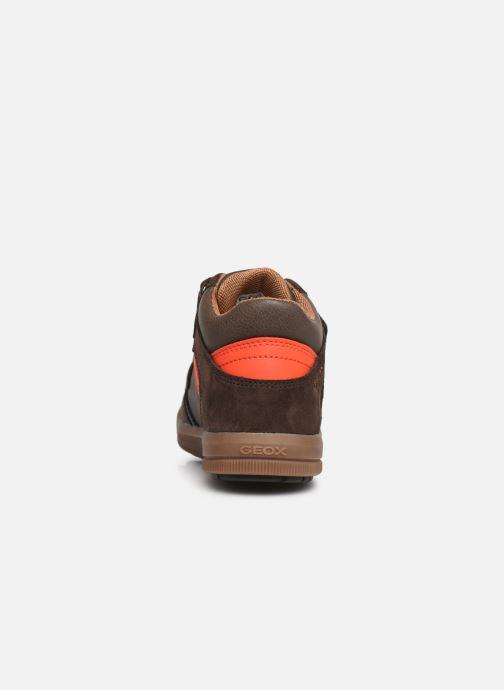Sneaker Geox J Arzach Boy J944AB braun ansicht von rechts